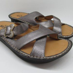 Alegria by PG Lite Gray Leather Sandals
